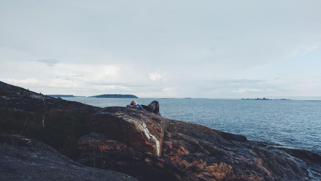 Jenny på havsklippan